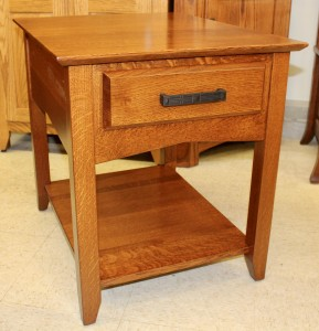 Danville One Drawer End Table   $359.00 In Oak Wood, $499.00 As Shown In 1