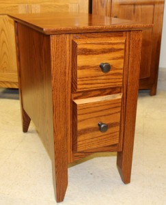 danville two drawer chair side table