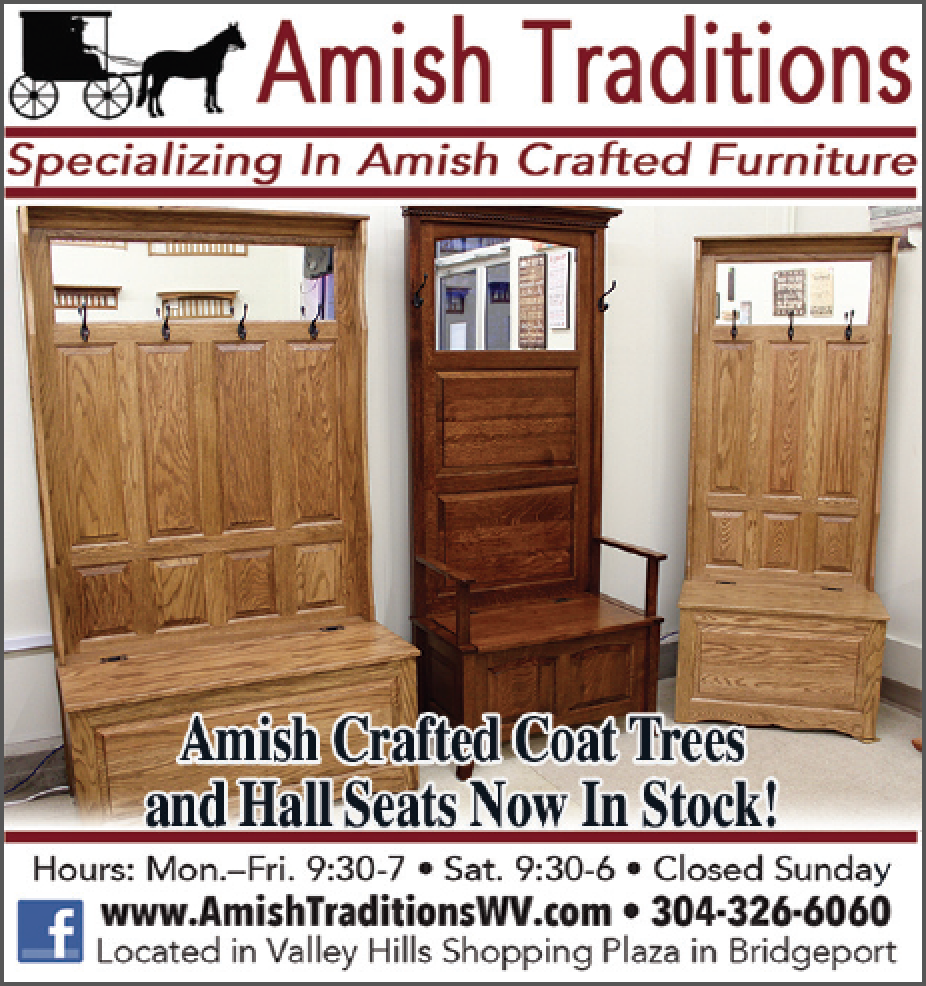 Amish Crafted Coat Trees and Hall Seats Now In Stock!