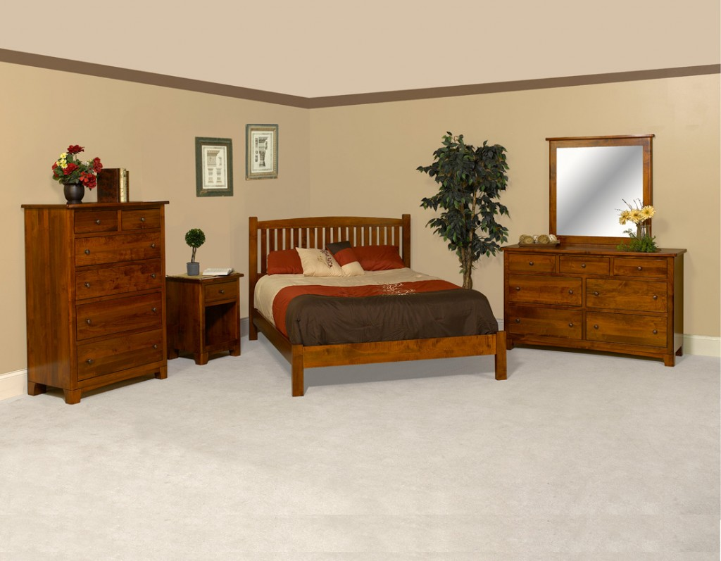 Amish Brockton Bedroom Set With Elmo Bed