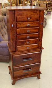 48″ Split Shaker Jewelry Armoire - $899.00 As Shown in Rustic Cherry