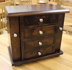 Dresser Top Jewelry Cabinet - $319.00 in Brown Maple