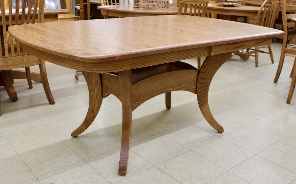 Galveston Double Pedestal Table Amish Traditions Wv