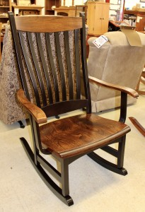High Back Rocker in Elm with Two-Tone Finish - $399.00