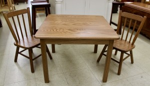 Square Child's Table with Two Chairs - $269.00