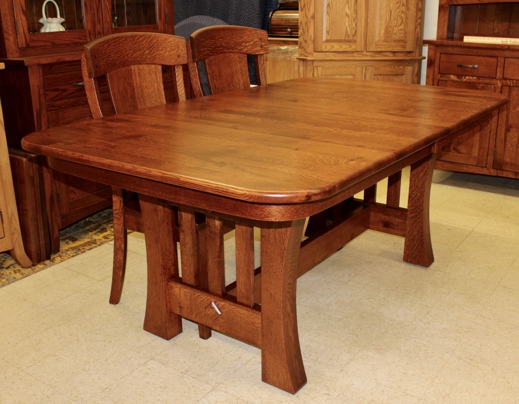 Curved Mission Table Amish Traditions Wv