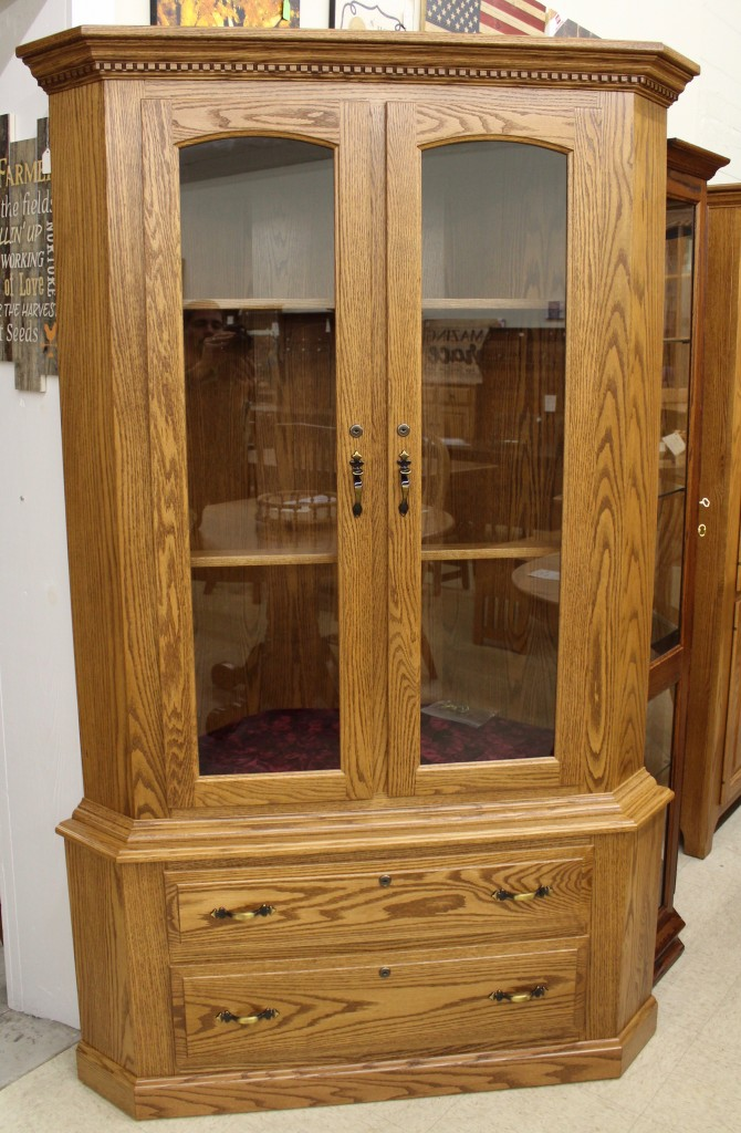 17 Gun Traditional Corner Gun Cabinet Amish Traditions Wv