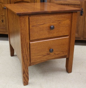 Danville Two Drawer End Table