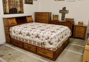 Space Saver Bookcase Pedestal Queen Bed - $2,989.00