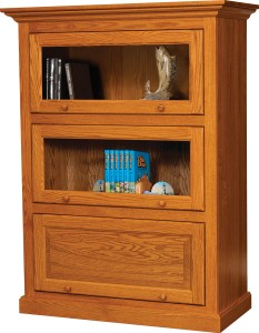 3-Stack One Piece Barrister Bookcase - $859.00