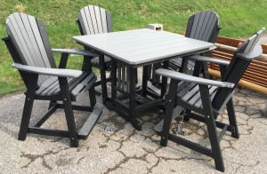Poly 44″ Square Counter Height Table and Adirondack Chair Set - $1,639.00