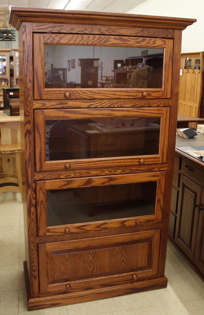 4 Stack One Piece Barrister Bookcase Amish Traditions Wv