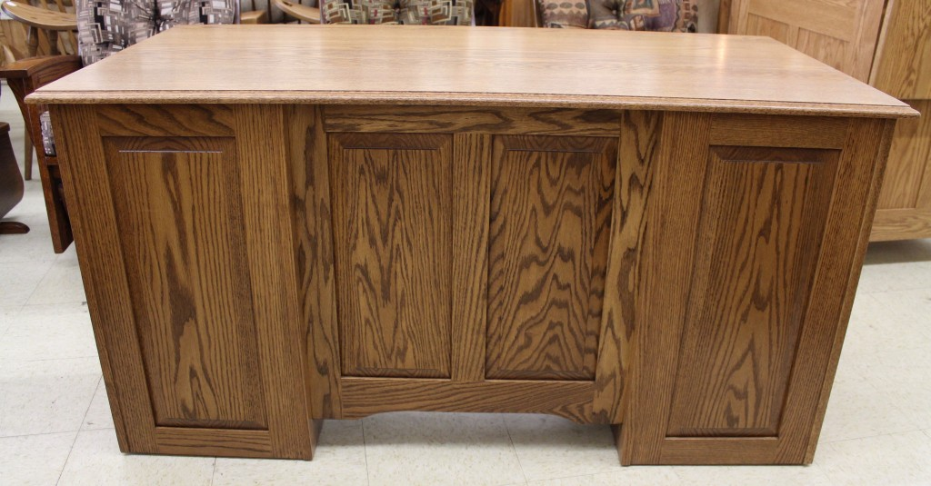 58 Traditional Double Pedestal Executive Desk Amish