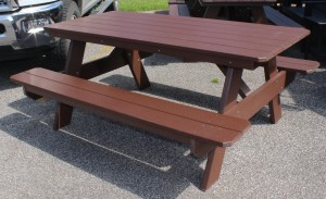 Poly 6' Classic Picnic Table with Attached Benches - $1,059.00