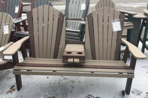 Poly 5′ Adirondack Bench With Fold Down - $599.00