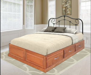 Space Saver Platform Drawer Bed, Queen Size - Headboard Not Included - $1,159.00