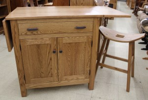 Brookline Mission Island with Drop Leaf Top - $1,339.00 [Stools Extra If Needed]