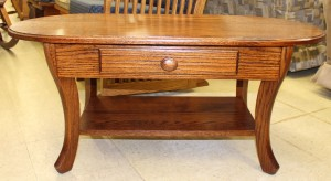 Curved Leg Coffee Table With Drawer - $359.00