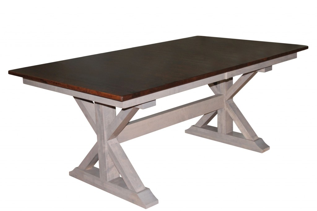 X-Base Double Pedestal Table : Amish Traditions WV