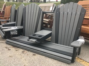 Poly 5′ Adirondack Swing with Fold Down - $599.00