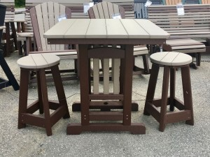 Poly 33″ Square Counter Height Table and Round Bar Stool Set - $719.00