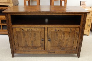 Rustic Mission 48″ TV Console in Rustic 1/4 Sawn Oak and Distressed - $789.00