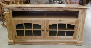 Deluxe 56″ TV Stand with Open VCR in Rustic Hickory - $879.00