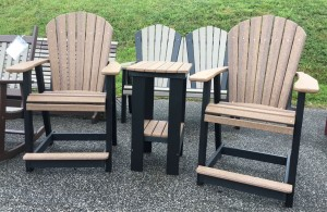 Poly Adirondack Counter Height Table and Chair Set - $819.00 in Antique Mahogany, $739.00 in Standard Poly