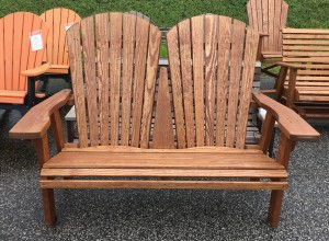 4' Adirondack Love Seat Bench - $219.00 Stained, $169.00 Unfinished