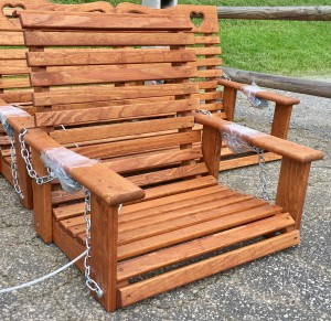 "2′ Rollback ""Babysitter's"" Swing - $169.00 Stained, $149.00 Unfinished"