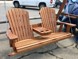 5′ Adirondack Swing w/ Fold Down – $329.00 Stained, $289.00 Unfinished