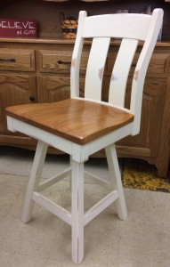 24″ Austin Bar Stool - $319.00 in Standard Finish, $359.00 As Shown with Custom Two Tone Finish