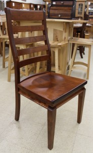 Orlando Ladder Back Side Chair - $219.00 in Oak Wood, $239.00 As Shown in Brown Maple
