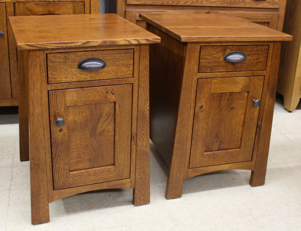 Danville Chair Side Tables Shown In Oak Wood And Provincial Stain!
