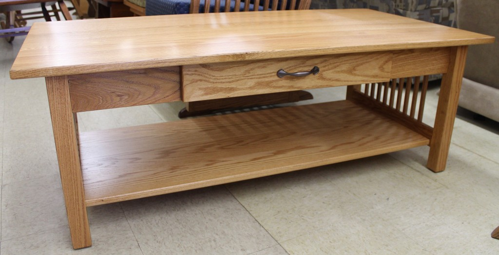 Mission Coffee Table W Drawer Amish Traditions Wv