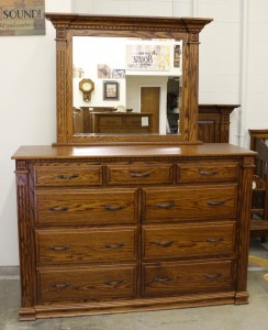 "Traditional Deluxe High Dresser with Mirror - 66"" Wide - $2,089.00"