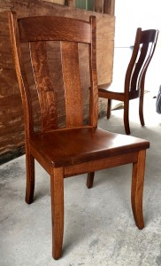 Austin Side Chair - $199.00 in Oak Wood, $259.00 As Shown in Rustic 1/4 Sawn Oak