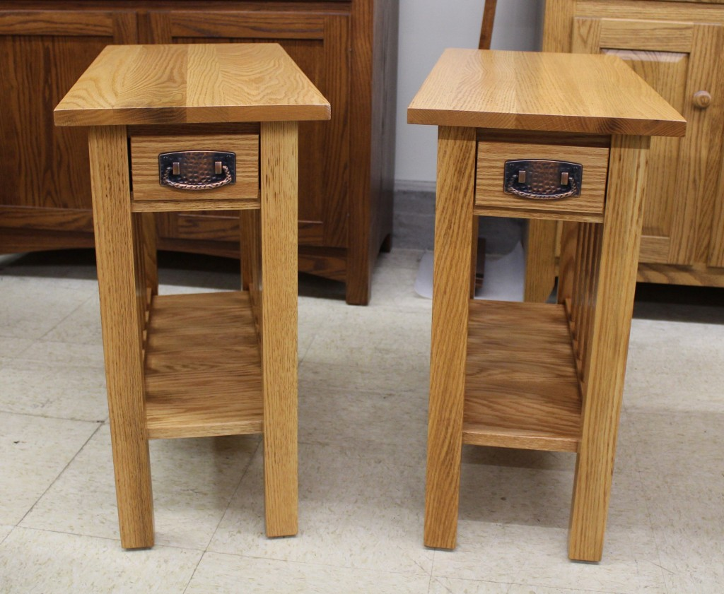 mission chair side table with drawer custom 12 wide