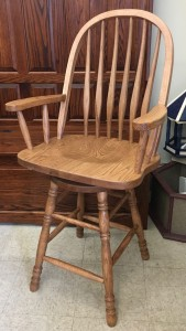 24″ Bent Back Stool With Arms - $269.00