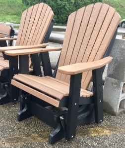 Poly 2′ Adirondack Glider - $399.00 in Standard Poly Colors, $439.00 As Shown in Antique Mahogany