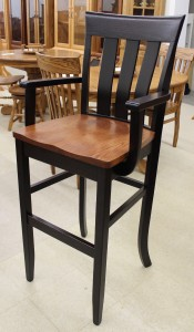 30″ Curlew Bar Chair with Arms - $289.00 in Standard Finish, $319.00 As Shown with Custom Two Tone Finish