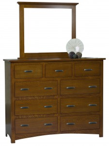 "Siesta Mission Tall Dresser with Mirror - 61"" Wide"