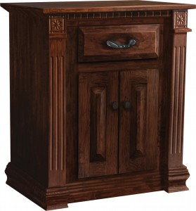 Traditional Deluxe Night Stand with Drawer and 2-Doors