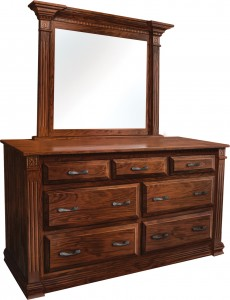 "Traditional Deluxe 66"" Dresser with Mirror - $1,889.00"
