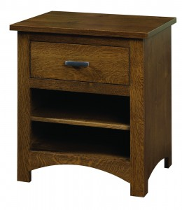 Siesta Mission Night Stand with One Drawer