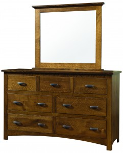 Siesta Mission 61″ Dresser with Mirror