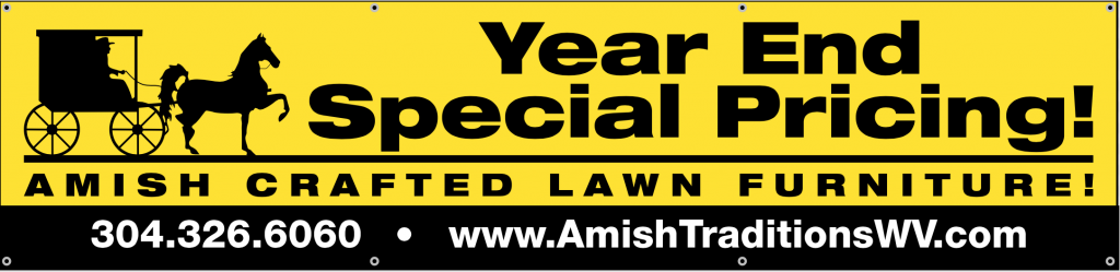 Going On Now! Special Fall Pricing on All Remaining In Stock Amish Crafted Lawn Furniture!