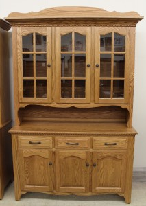 3-Door Country Hutch with Rope Twist Molding - $1,999.00