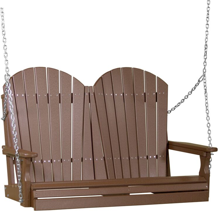 4' Adirondack Poly Swing in Chestnut Brown - $529.00 in Standard Colors + Shipping