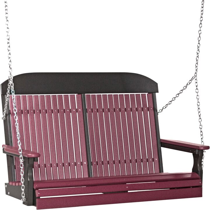 4' Classic Poly Swing in Cherry Wood and Black - $479.00 in Standard Colors + Shipping